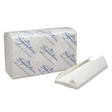 Premium C-Fold Paper Towels, 2-Ply, Paper Band, White, 10_
