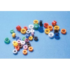 Code Ring, Standard 1/8 Wide, Blue, 100/pk