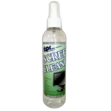 SCREEN CLEANER 8oz BOTTLE w/MICROFIBER CLOTH 45-SCCL